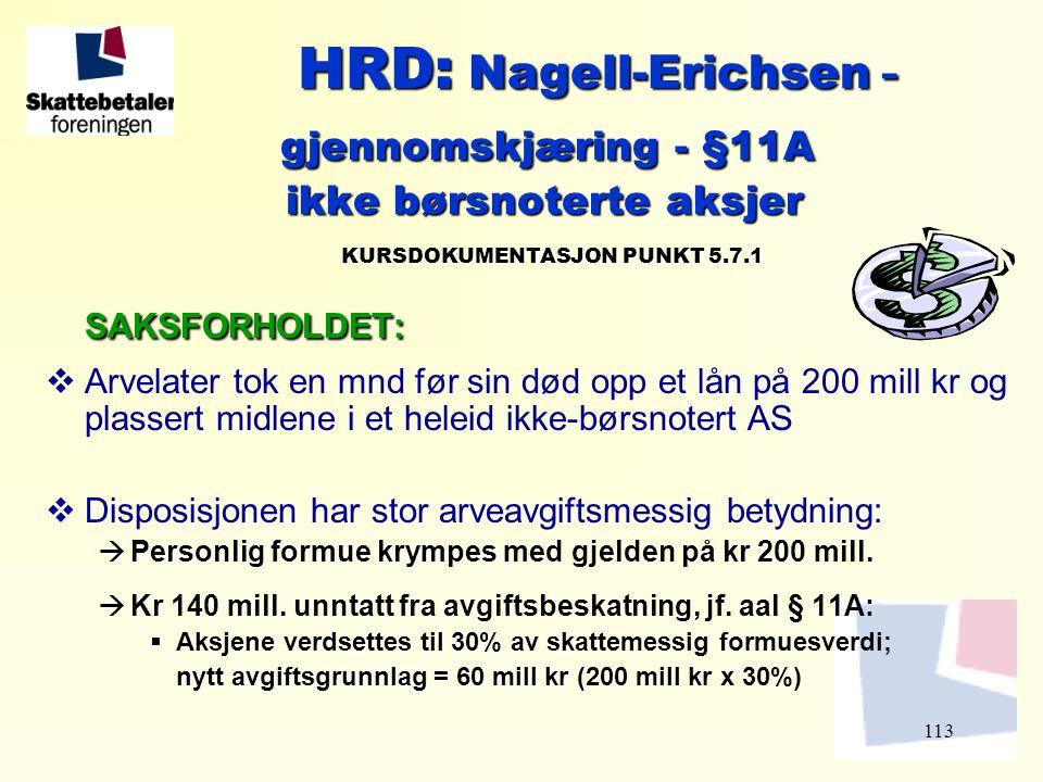 HRD: Nagell-Erichsen -