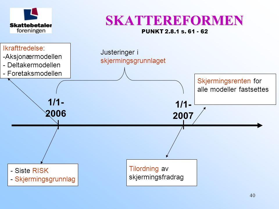 SKATTEREFORMEN PUNKT 2.8.1 s. 61 - 62