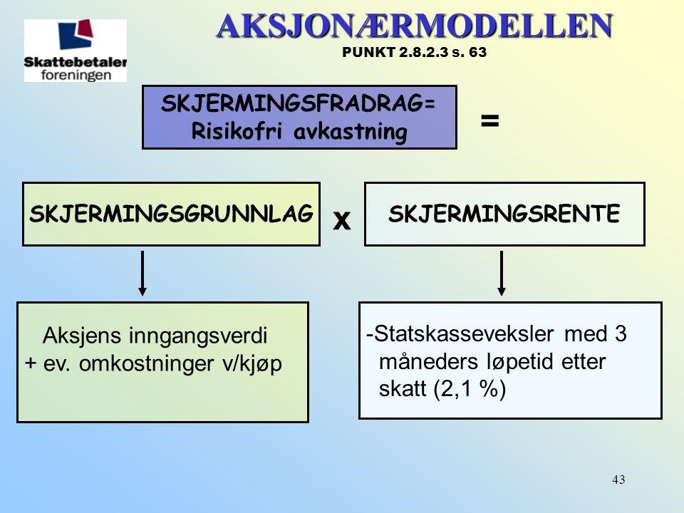 AKSJONÆRMODELLEN PUNKT 2.8.2.3 s. 63