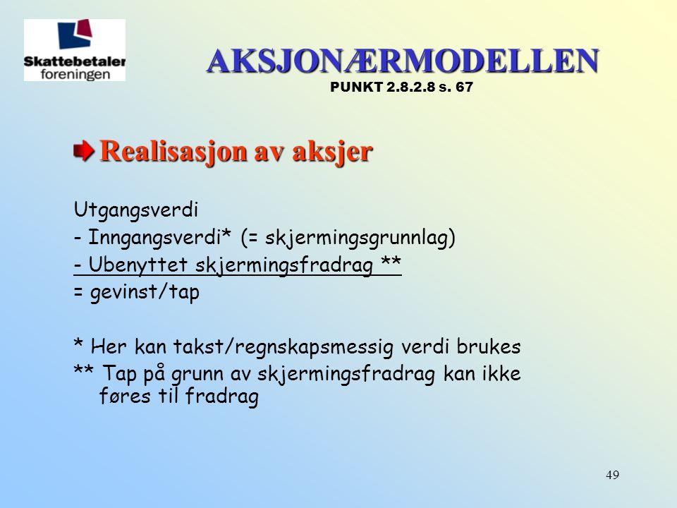 AKSJONÆRMODELLEN PUNKT 2.8.2.8 s. 67