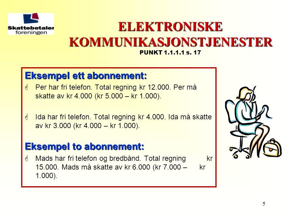 ELEKTRONISKE KOMMUNIKASJONSTJENESTER PUNKT 1.1.1.1 s. 17