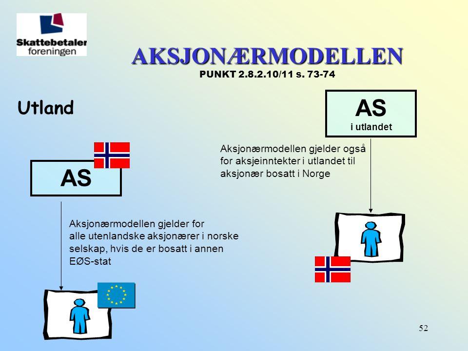 AKSJONÆRMODELLEN PUNKT 2.8.2.10/11 s. 73-74
