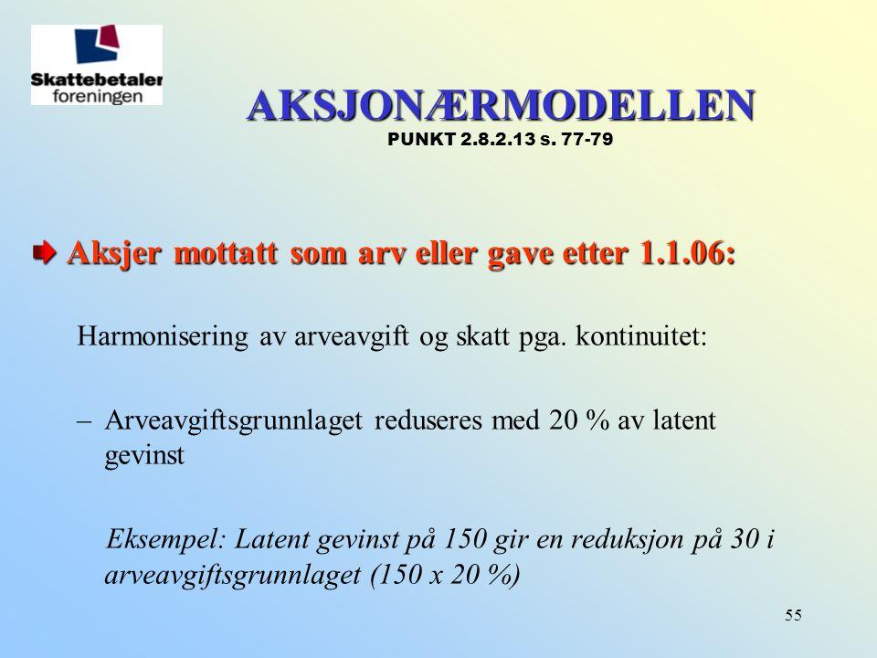 AKSJONÆRMODELLEN PUNKT 2.8.2.13 s. 77-79