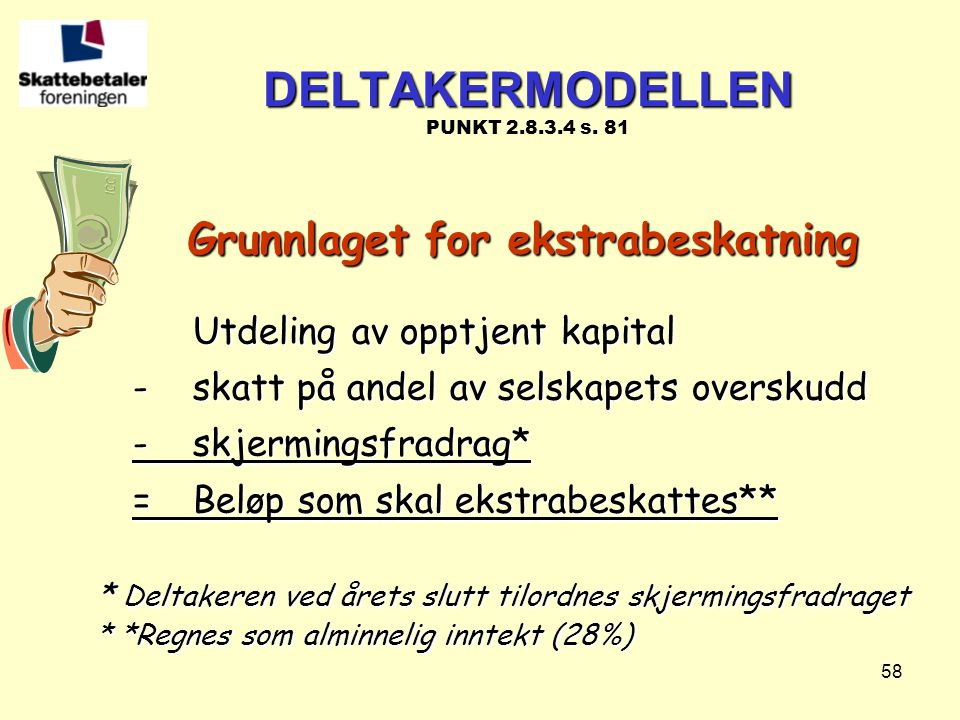 DELTAKERMODELLEN PUNKT 2.8.3.4 s. 81