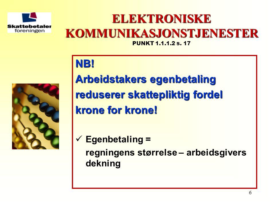 ELEKTRONISKE KOMMUNIKASJONSTJENESTER PUNKT 1.1.1.2 s. 17