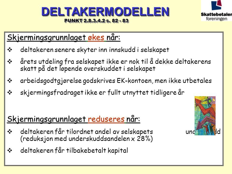 DELTAKERMODELLEN PUNKT 2.8.3.4.2 s. 82 - 83