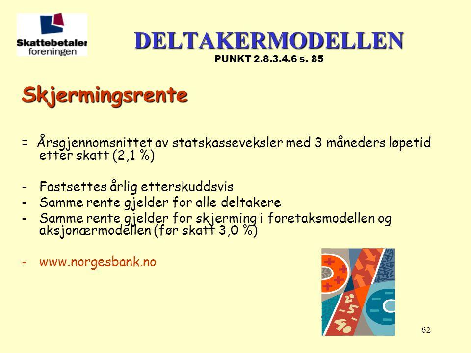 DELTAKERMODELLEN PUNKT 2.8.3.4.6 s. 85