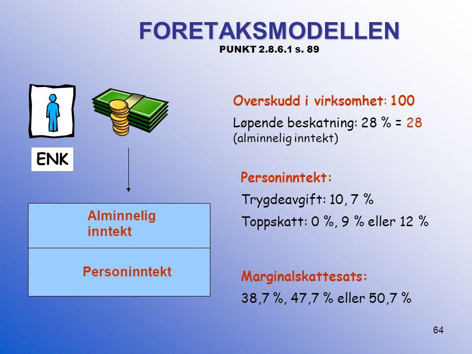 FORETAKSMODELLEN PUNKT 2.8.6.1 s. 89