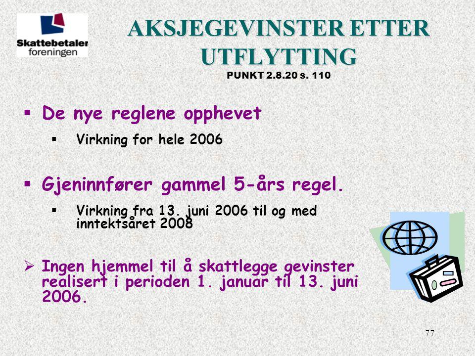 AKSJEGEVINSTER ETTER UTFLYTTING PUNKT 2.8.20 s. 110