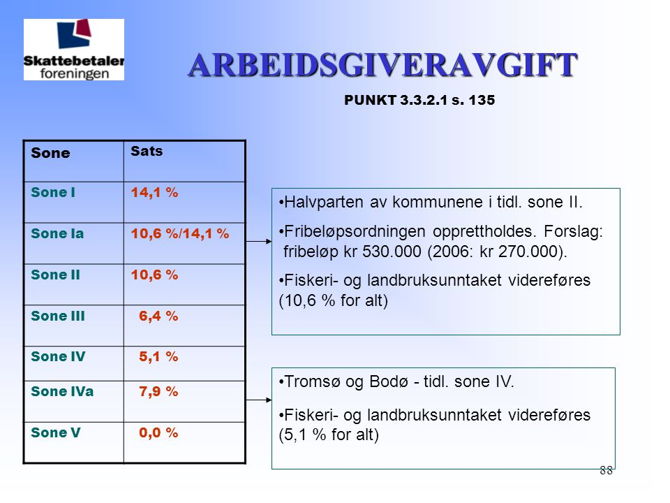 ARBEIDSGIVERAVGIFT PUNKT 3.3.2.1 s. 135