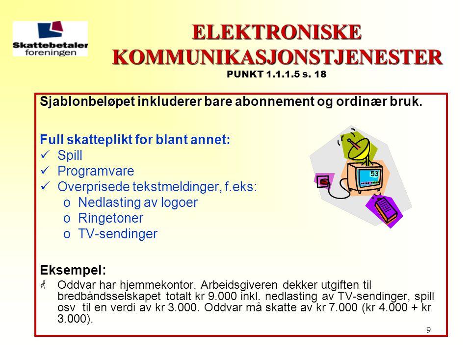 ELEKTRONISKE KOMMUNIKASJONSTJENESTER PUNKT 1.1.1.5 s. 18