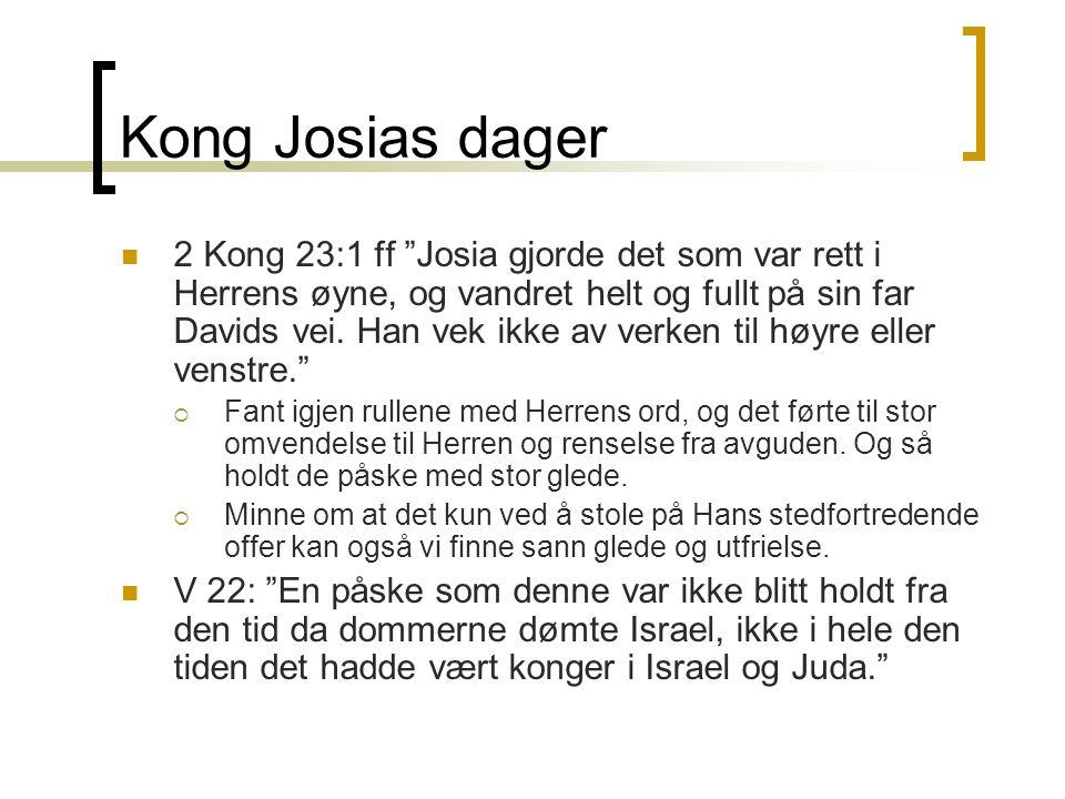 Kong Josias dager