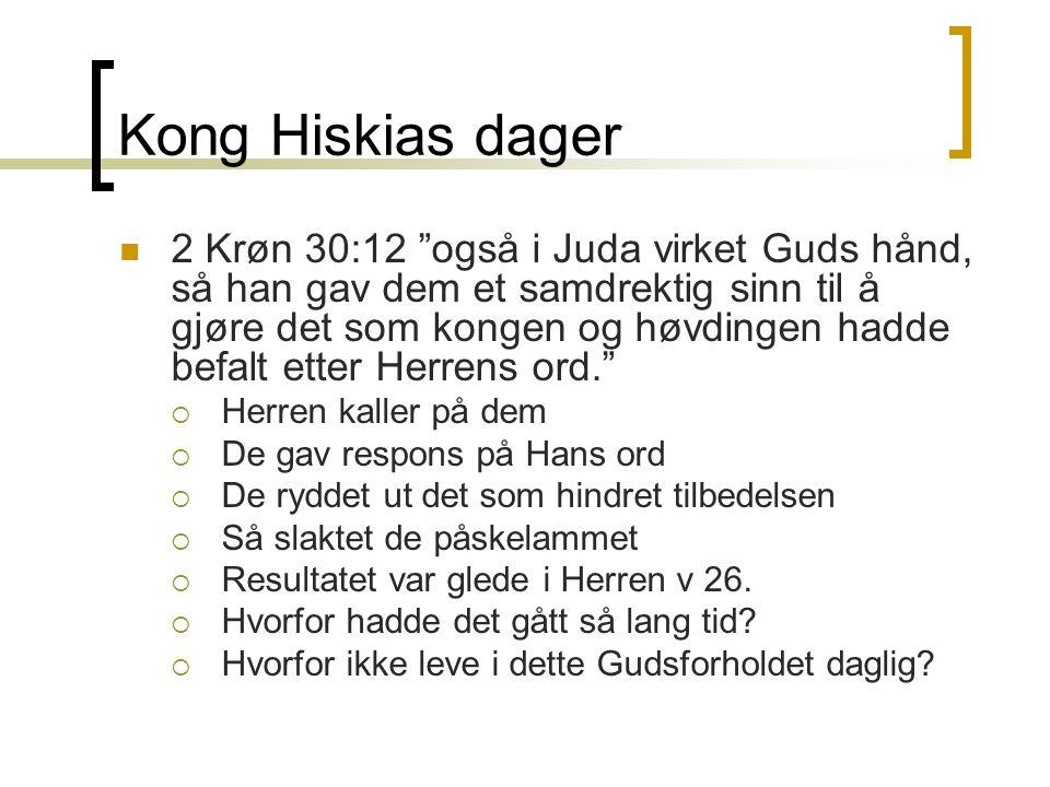 Kong Hiskias dager