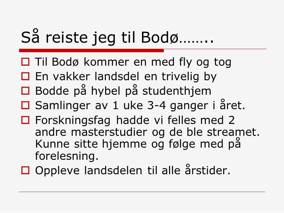 Så reiste jeg til Bodø……..