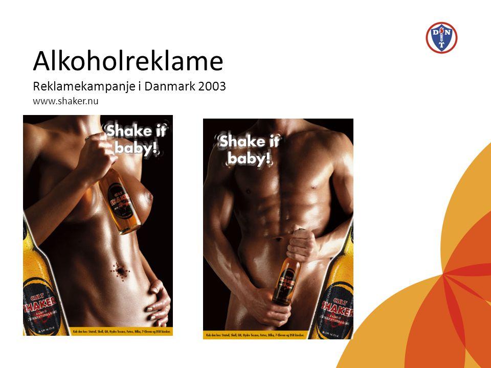 Alkoholreklame Reklamekampanje i Danmark 2003 www.shaker.nu