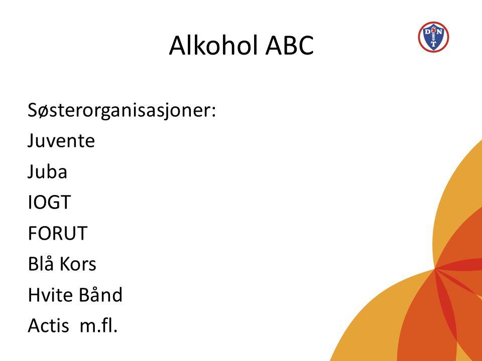 Alkohol ABC Søsterorganisasjoner: Juvente Juba IOGT FORUT Blå Kors