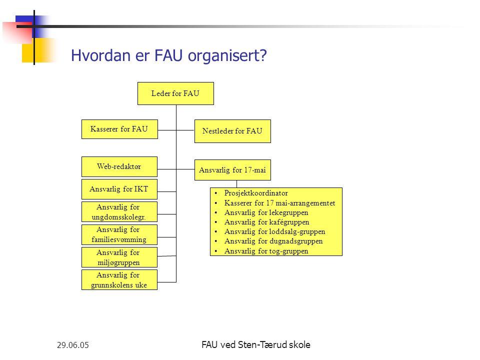 Hvordan er FAU organisert