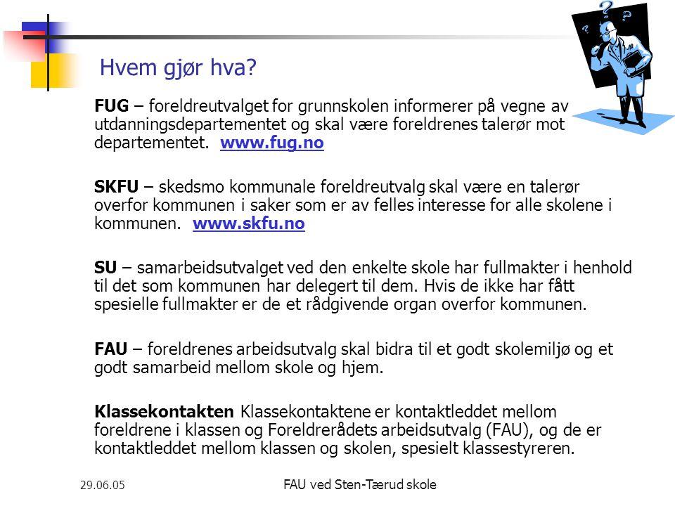 FAU ved Sten-Tærud skole