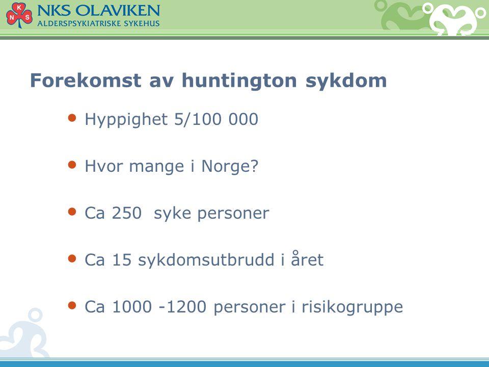 Forekomst av huntington sykdom