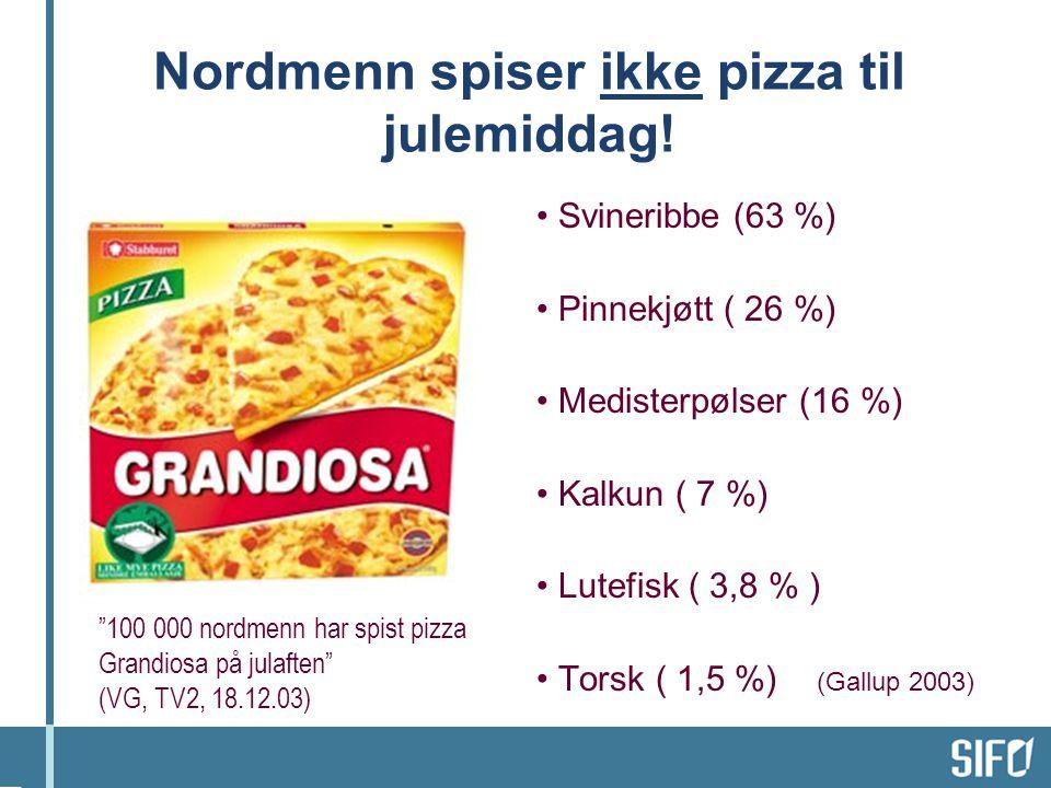 Nordmenn spiser ikke pizza til julemiddag!