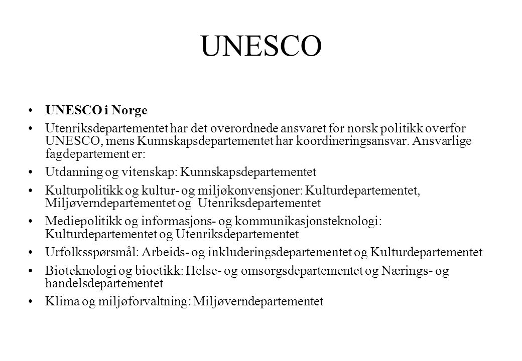 unescos verdensarvliste norge