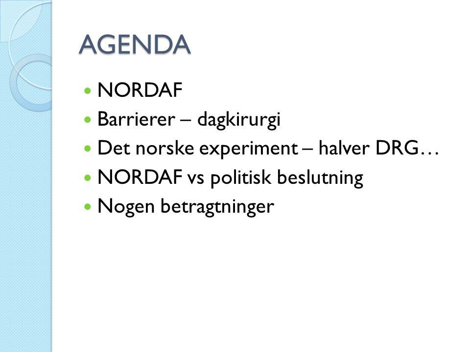 AGENDA NORDAF Barrierer – dagkirurgi