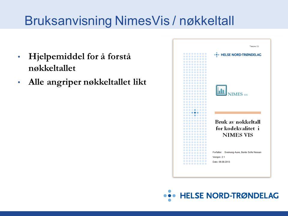 Bruksanvisning NimesVis / nøkkeltall