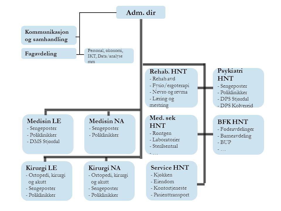 Adm. dir Kommunikasjon og samhandling. Fagavdeling. Personal, økonomi, IKT, Data/analyse mm.