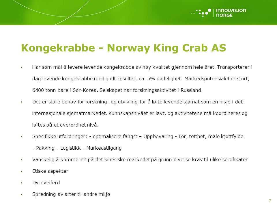 Kongekrabbe - Norway King Crab AS