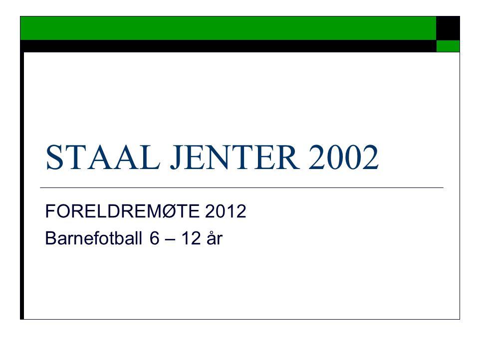FORELDREMØTE 2012 Barnefotball 6 – 12 år