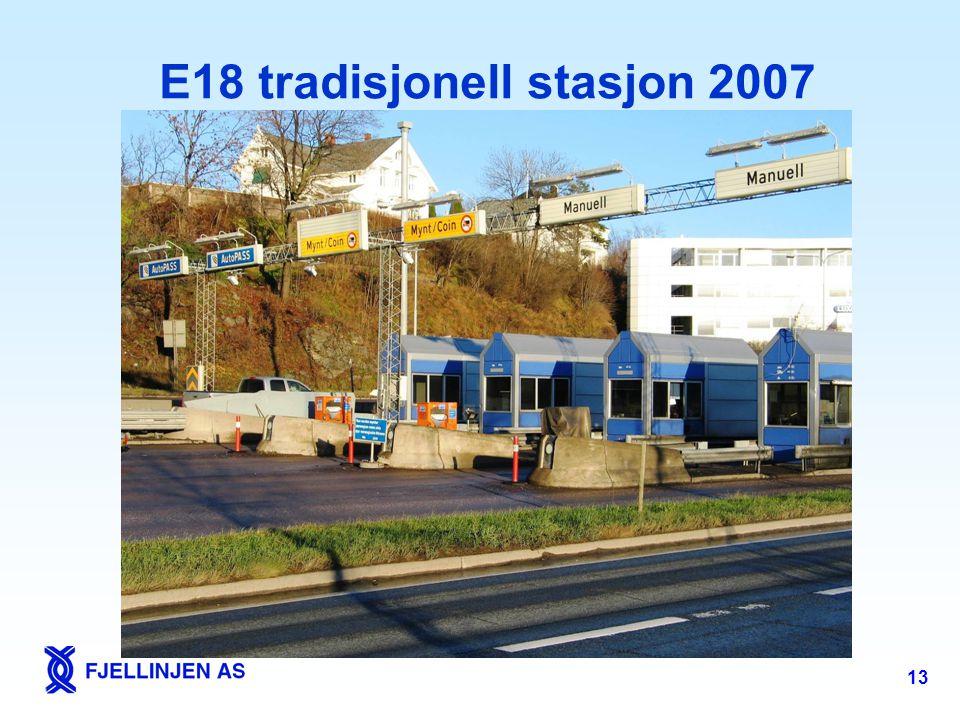 E18 tradisjonell stasjon 2007