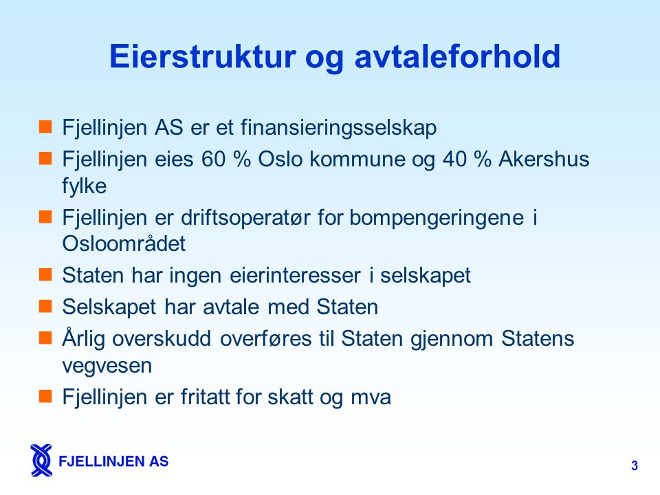 Eierstruktur og avtaleforhold