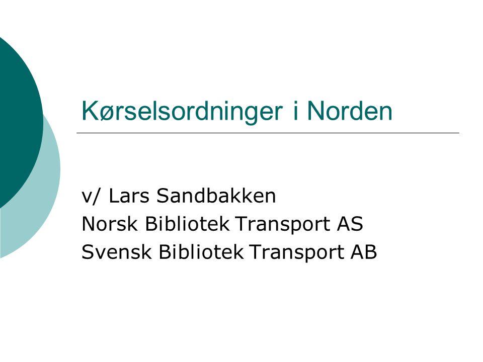 Kørselsordninger i Norden