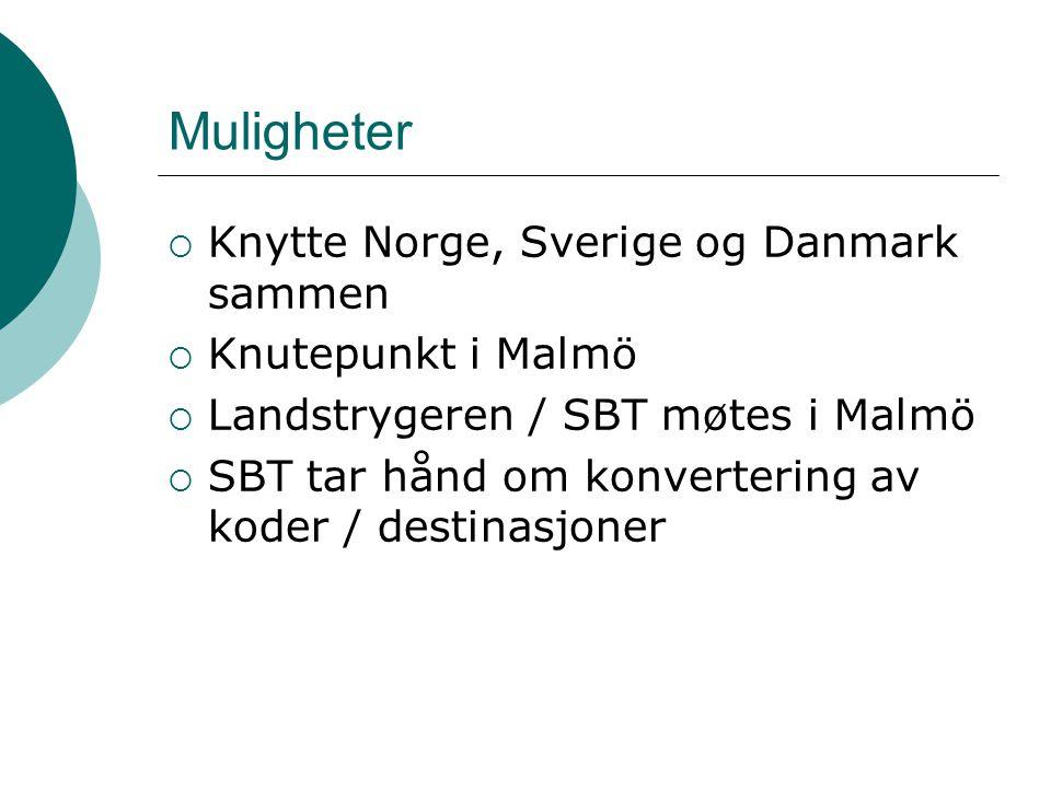 Muligheter Knytte Norge, Sverige og Danmark sammen Knutepunkt i Malmö