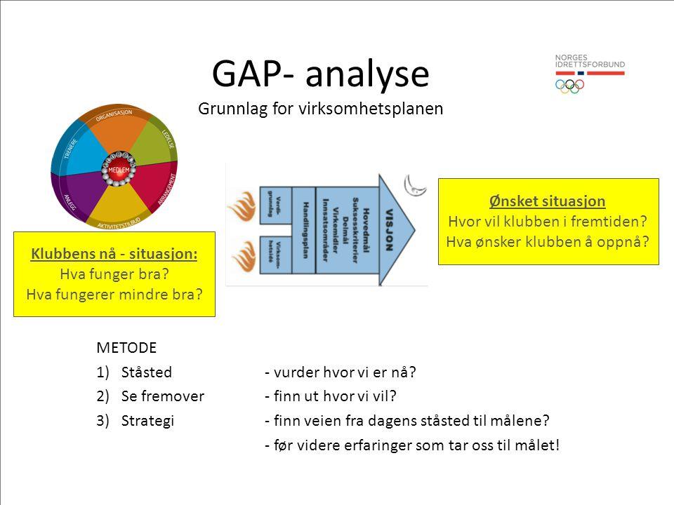 GAP- analyse Grunnlag for virksomhetsplanen