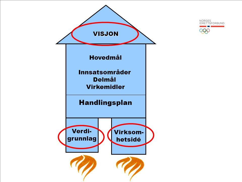 Handlingsplan VISJON Hovedmål Innsatsområder Delmål Virkemidler Verdi-