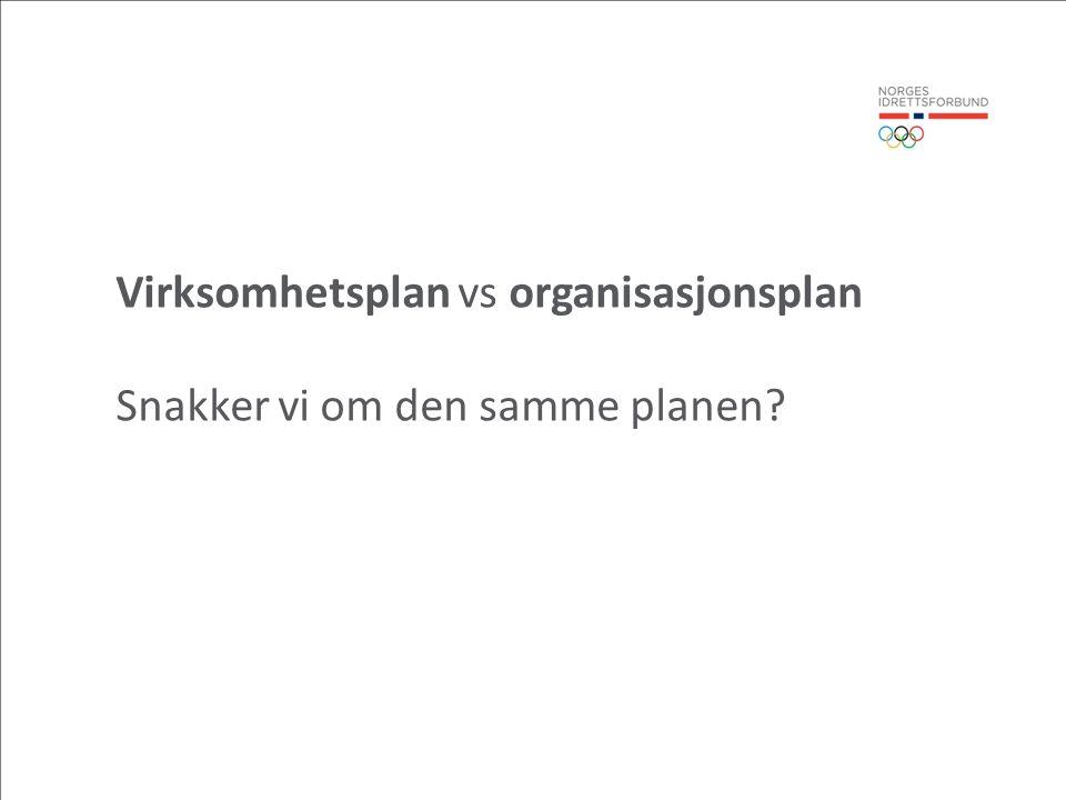 Virksomhetsplan vs organisasjonsplan