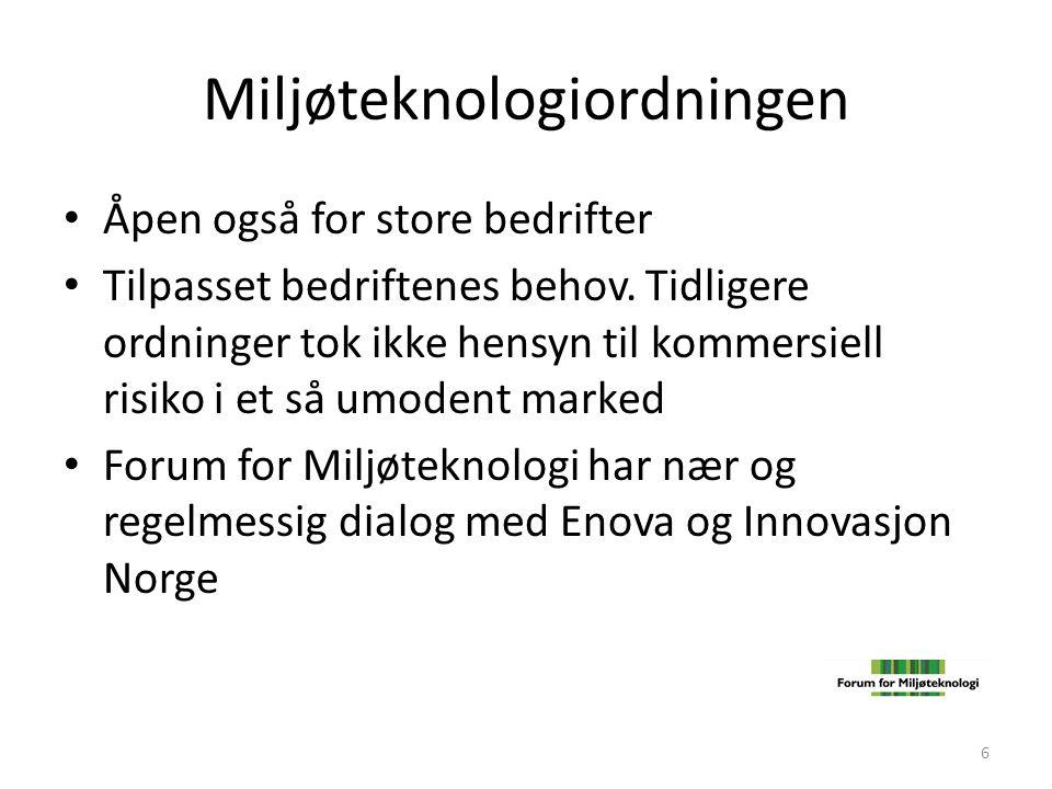 Miljøteknologiordningen