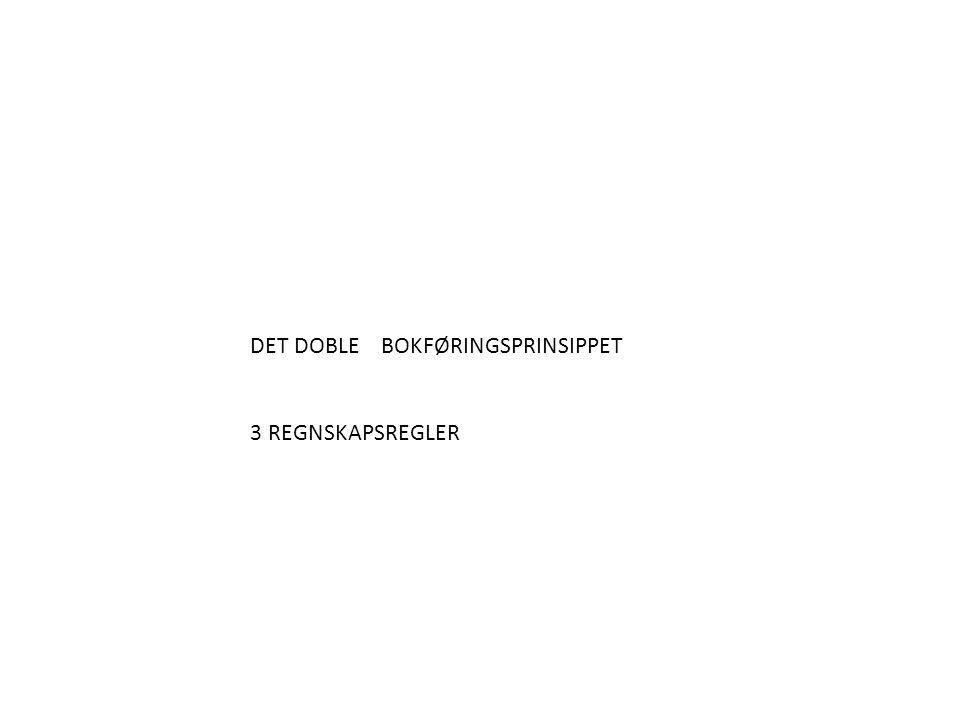 DET DOBLE BOKFØRINGSPRINSIPPET