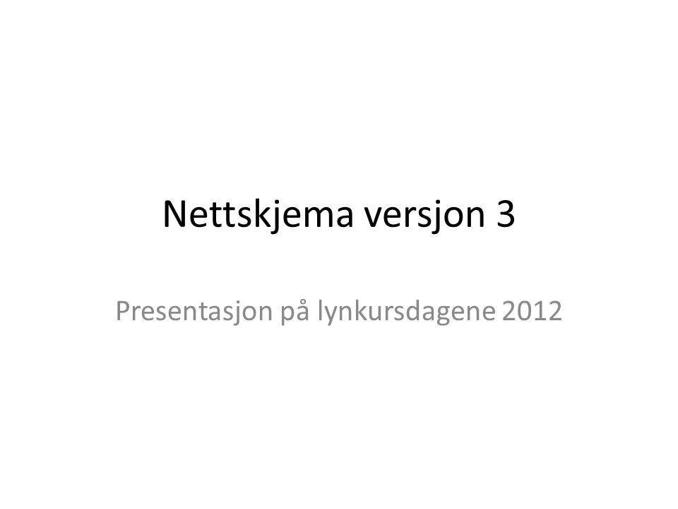 Presentasjon på lynkursdagene 2012