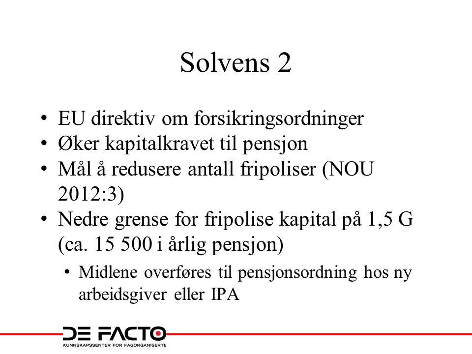 Solvens 2 EU direktiv om forsikringsordninger