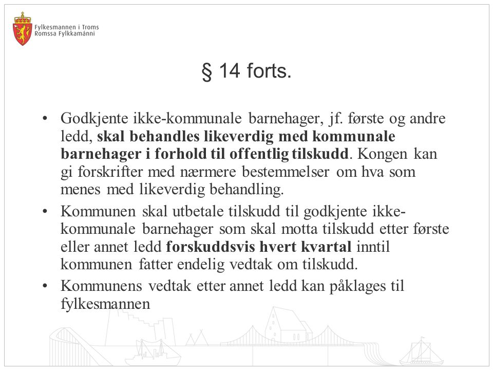§ 14 forts.