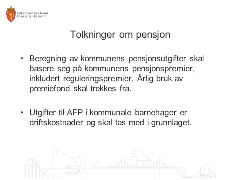 Tolkninger om pensjon