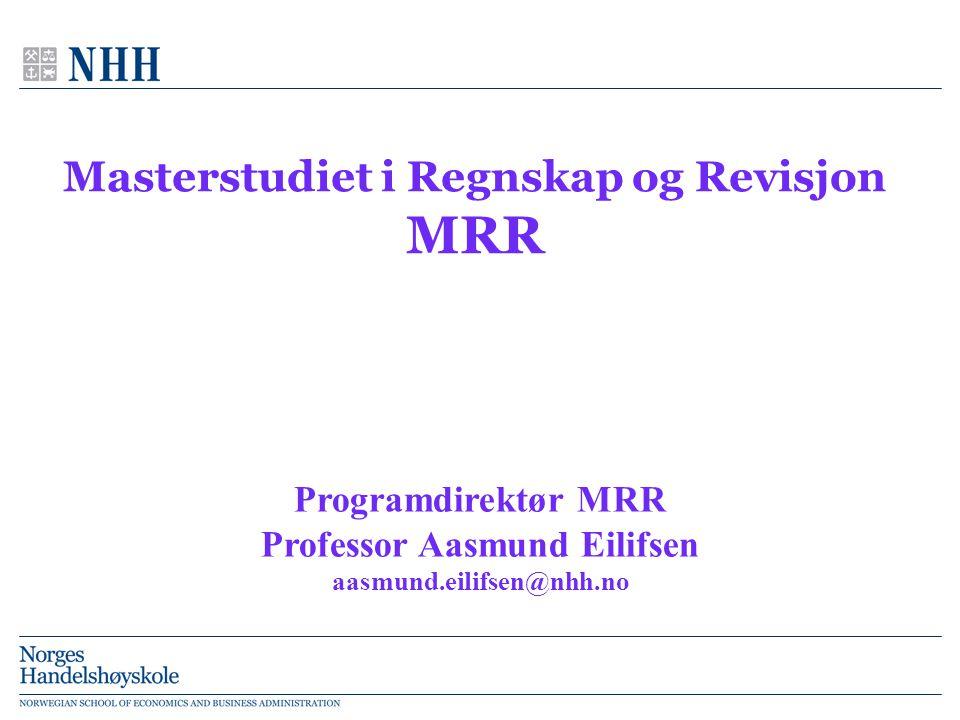 Masterstudiet i Regnskap og Revisjon MRR