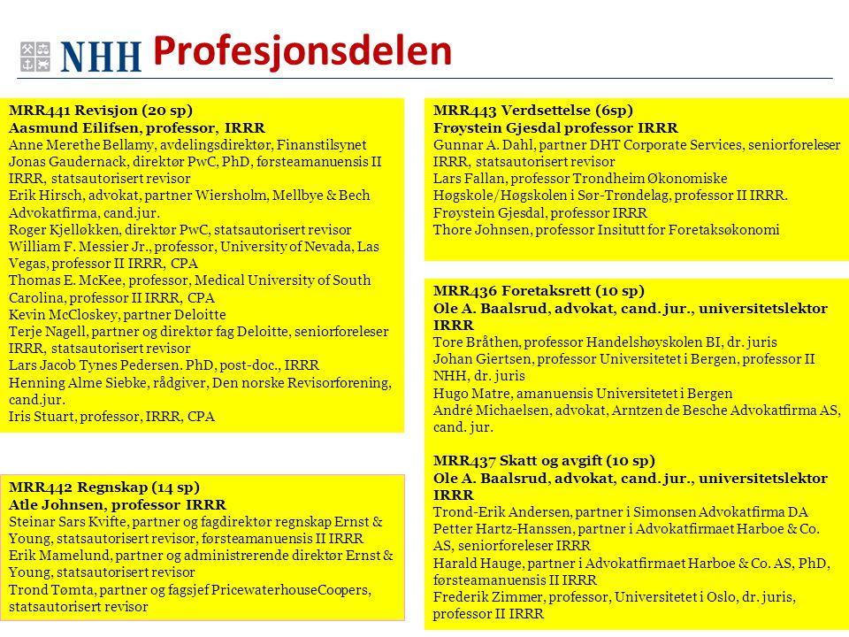 Profesjonsdelen MRR441 Revisjon (20 sp)