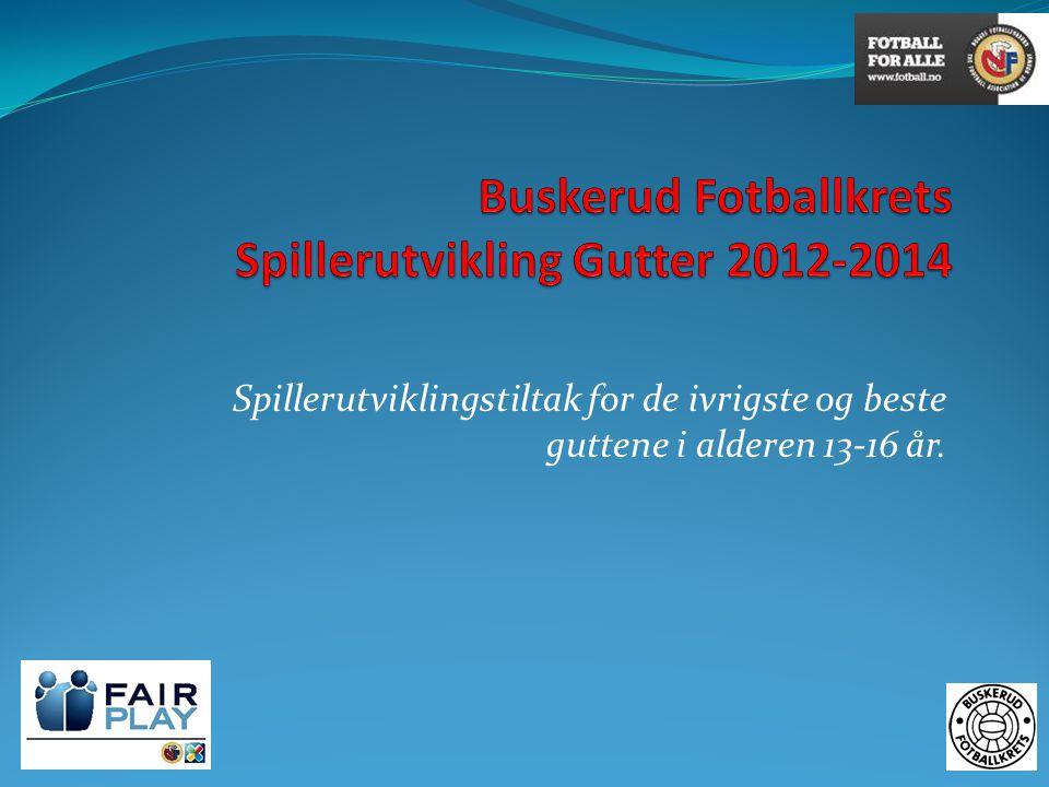 Buskerud Fotballkrets Spillerutvikling Gutter 2012-2014