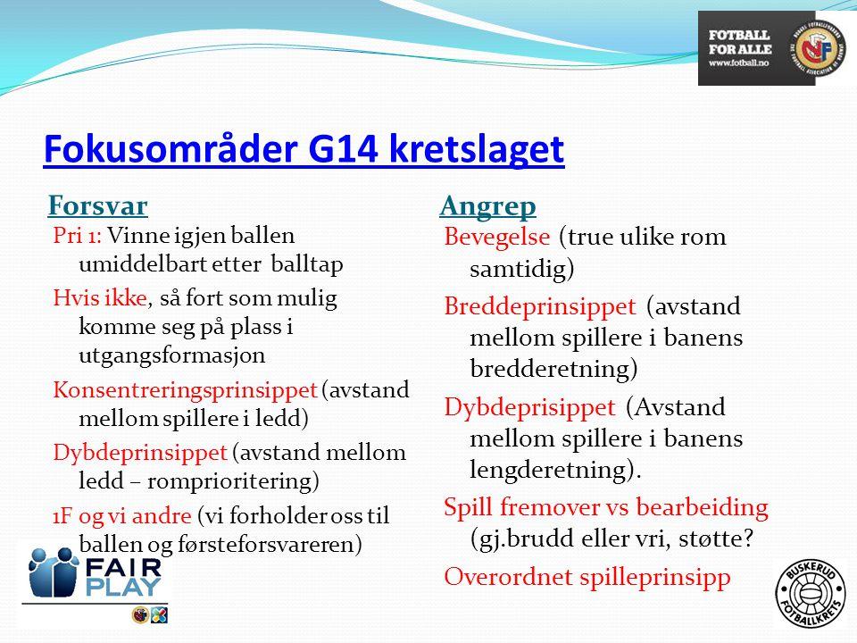 Fokusområder G14 kretslaget