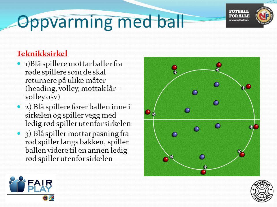Oppvarming med ball Teknikksirkel