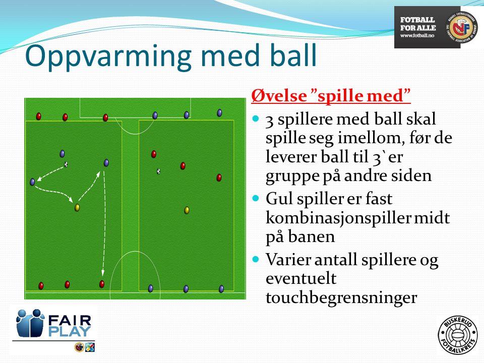 Oppvarming med ball Øvelse spille med
