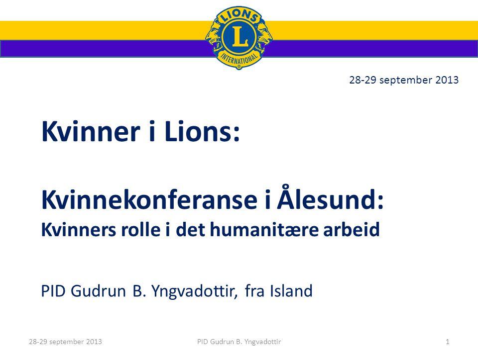Kvinnekonferanse i Ålesund PID Gudrun B. Yngvadottir, fra Island